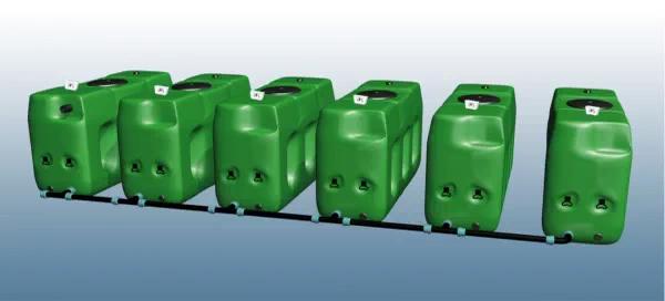 Tanks voor bovengrondse opstelling-toepassingsvoorbeeld