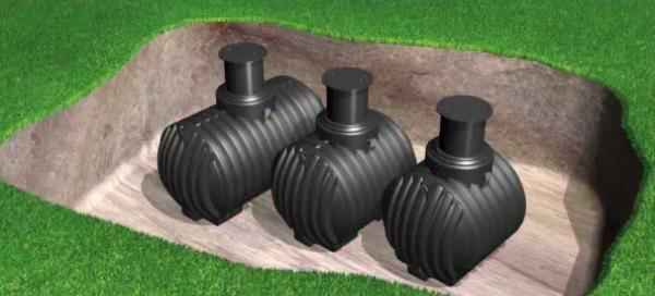 Tanks voor aardinbouw rond